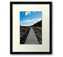 Boardwalk in Tongariro National Park (4) Framed Print