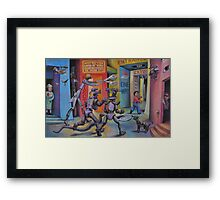 An Innocent Pursued By Drones Framed Print