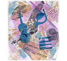 Musical Memories 5 Faux Chine Colle Monoprint Poster