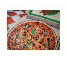 Junk Food (Pizza) Art Print