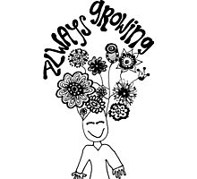 Always Growing Flower Head Photographic Print