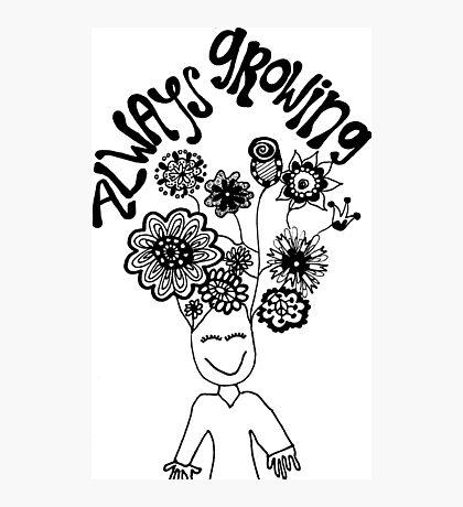 Always Growing Flower Head Photographic Print