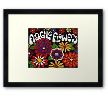 Fragile Flowers Artwork Framed Print