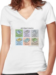 abridged classics Women's Fitted V-Neck T-Shirt