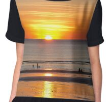 Cable Beach at Sunset Chiffon Top