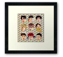 EXO Lucky One Faces Framed Print