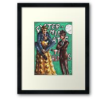 Hannibal - Doctor Who - Exterminate the humans Framed Print