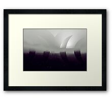 In The Haze Framed Print