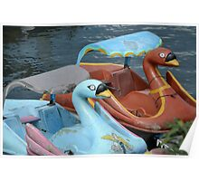 swan pedal boat Poster