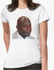 High Quality Crying Jordan Womens Fitted T-Shirt