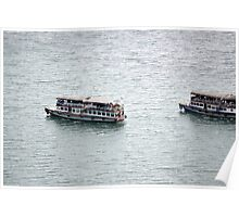 ferry boat at toba lake Poster