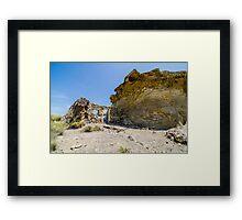 Abandoned movie location in the Tabernas desert. Framed Print