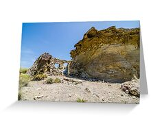 Abandoned movie location in the Tabernas desert. Greeting Card
