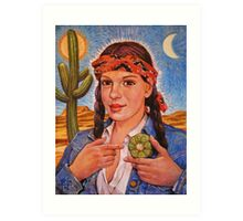 Peyote Woman Art Print