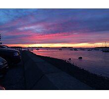 Boston Hahbah Sunset Photographic Print