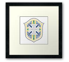 Brazil Crest Framed Print