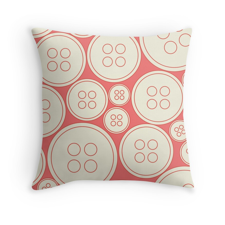Throw Pillows With Buttons :