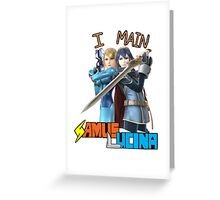 Smash Bros Samus x Lucina Mains Greeting Card