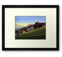 Village houses on the hill | landscape photography Framed Print
