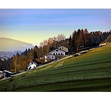 Village houses on the hill | landscape photography Photographic Print