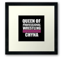 Queen of Pro Wrestling Framed Print