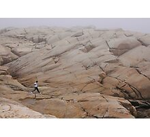 Rock Jogger at Peggy's Cove Photographic Print
