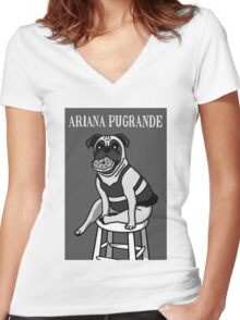 Ariana Pugrande Women's Fitted V-Neck T-Shirt