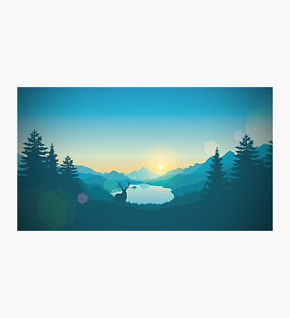 Firewatch Art Design 4K Photographic Print