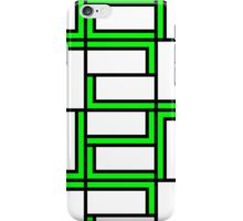 Rectangles 2 - lime green iPhone Case/Skin