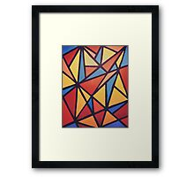 90s mosaic Framed Print