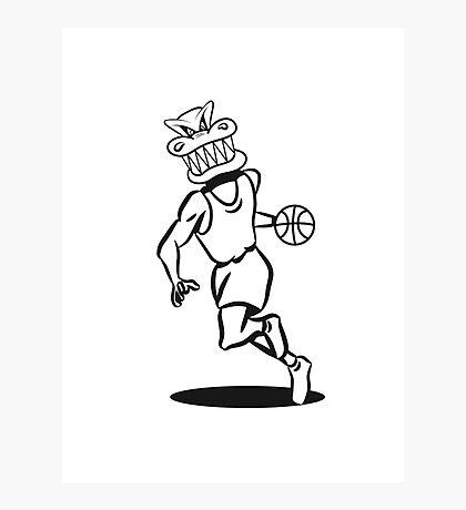Basketball funny sports Photographic Print