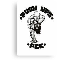 One Arm Push Up Canvas Print