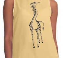 Cute Happy Fun Giraffe Contrast Tank