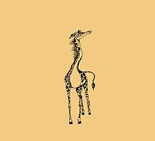 Cute Happy Fun Giraffe by Fiona Lokot