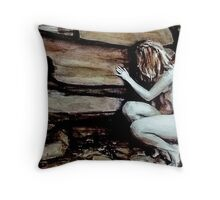 Patience Is A Kind Of Sadness; watercolors Throw Pillow