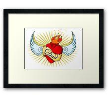 Old School Dad's Heart Framed Print