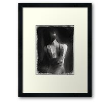 Song For Eurydice (charcoal and chalk, some dirt and sand.) Framed Print