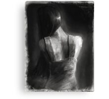 Song For Eurydice (charcoal and chalk, some dirt and sand.) Canvas Print