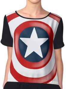 Captain America Shield Chiffon Top