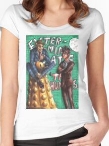Hannibal - Doctor Who - Exterminate the humans Women's Fitted Scoop T-Shirt
