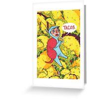 Armadillos Love Tacos Greeting Card