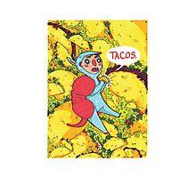 Armadillos Love Tacos Photographic Print