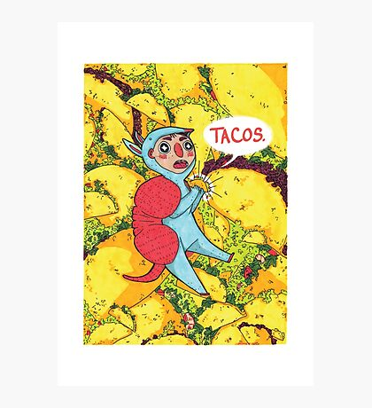 Armadillos Love Tacos Photographic Print