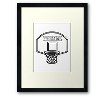 Basketball sports basket Framed Print