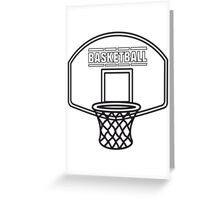 Basketball sports basket Greeting Card
