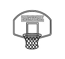 Basketball sports basket Photographic Print