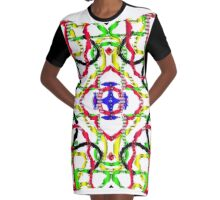 3D mandala Graphic T-Shirt Dress