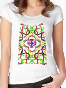 3D mandala Women's Fitted Scoop T-Shirt