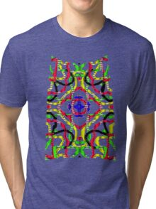 3D mandala Tri-blend T-Shirt