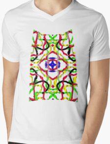 3D mandala Mens V-Neck T-Shirt